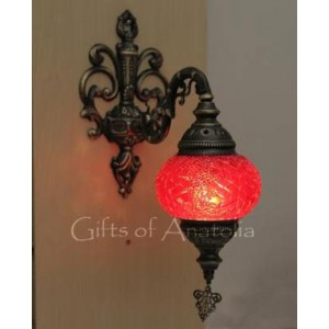 ST06506-1 MOSAİC LANTERN  SINGLE  LAMP  WALL  SCONCE
